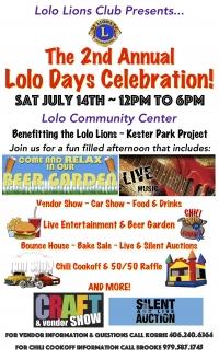2nd Annual Lion's Lolo Days Celebration