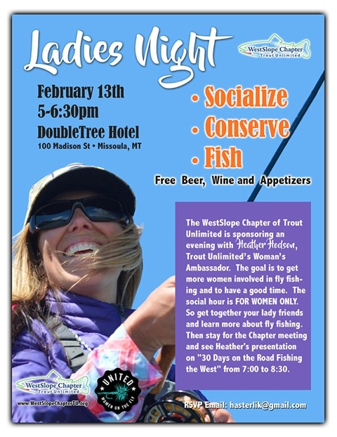 Ladies Only Social Hour - Westslope Trout Unlimited
