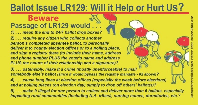 Ballot Issue LR129: Will It Help or Hurt Us? 10/17/2018 Missoula