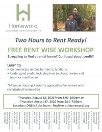 Rent Wise Workshop