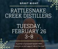 Spirit Night at Rattlesnake Creek Distillers