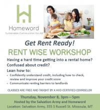 Homeword's Rent Wise Workshop