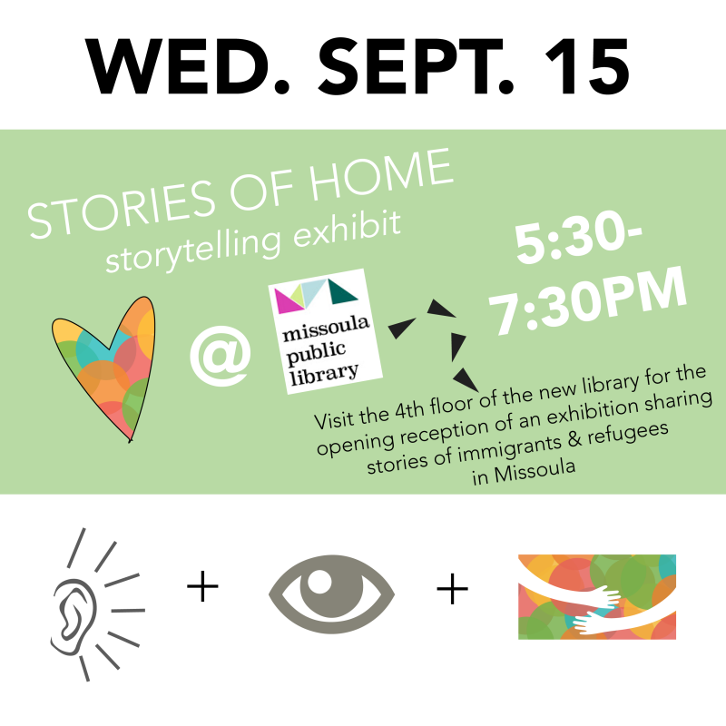 Welcoming Week Stories of Home Opening Reception