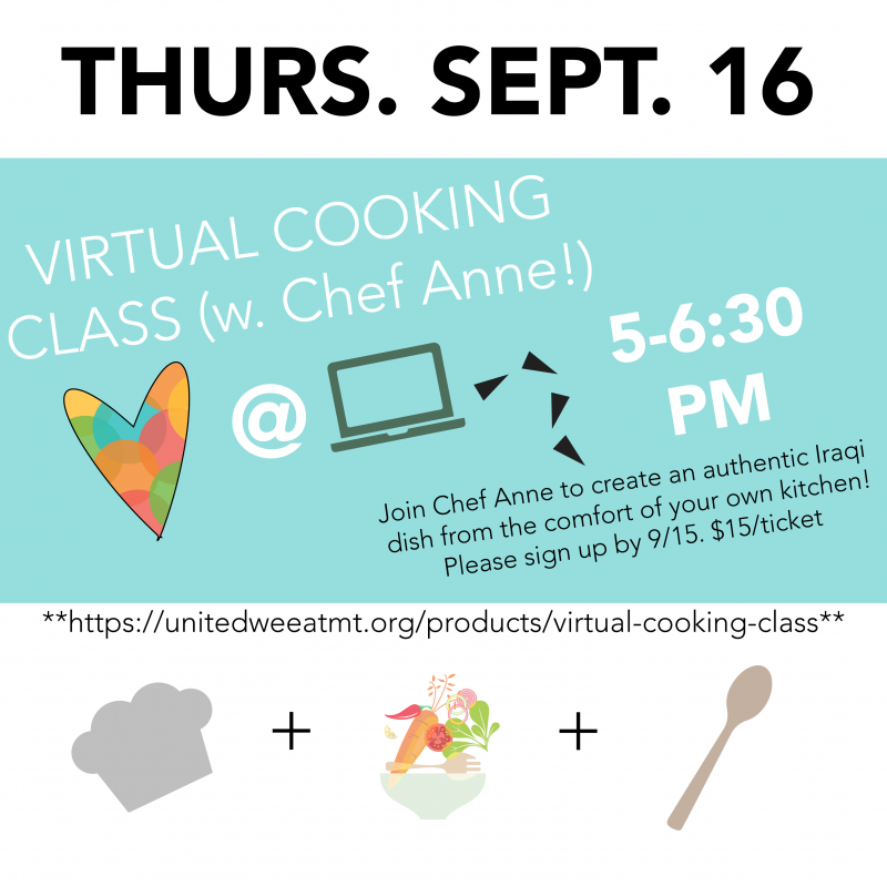 Welcoming Week Virtual Cooking Class with Chef Anne