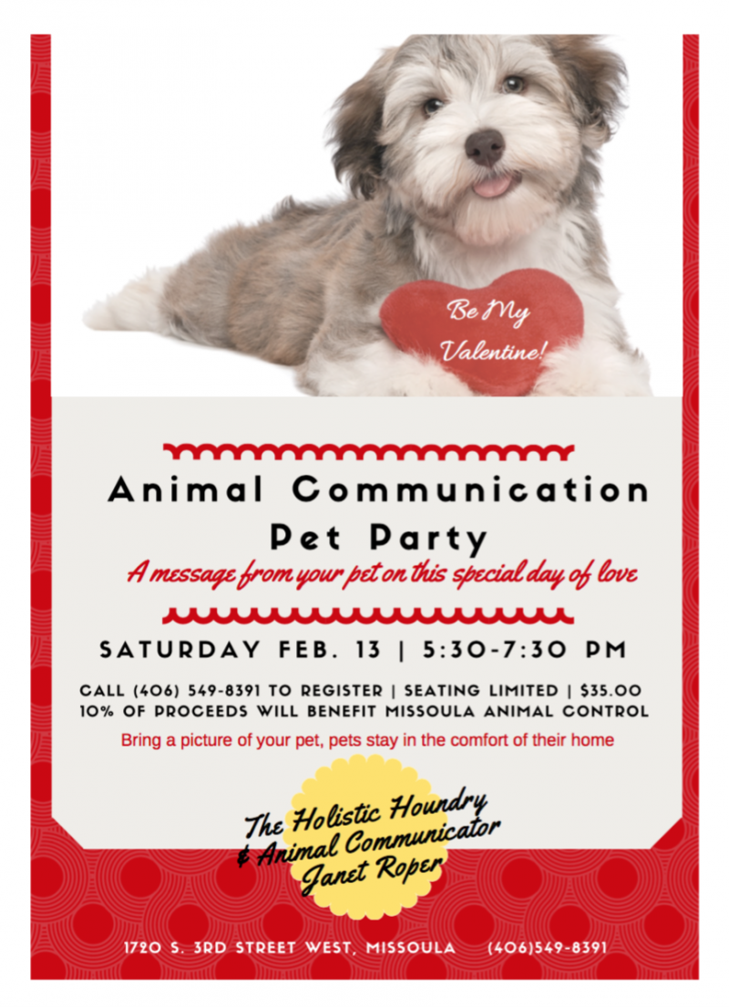 Animal Communication Pet Party with a Valentine Twist 02/13
