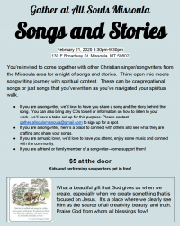 Songs and Stories: Christian Songwriters Open Mic Night