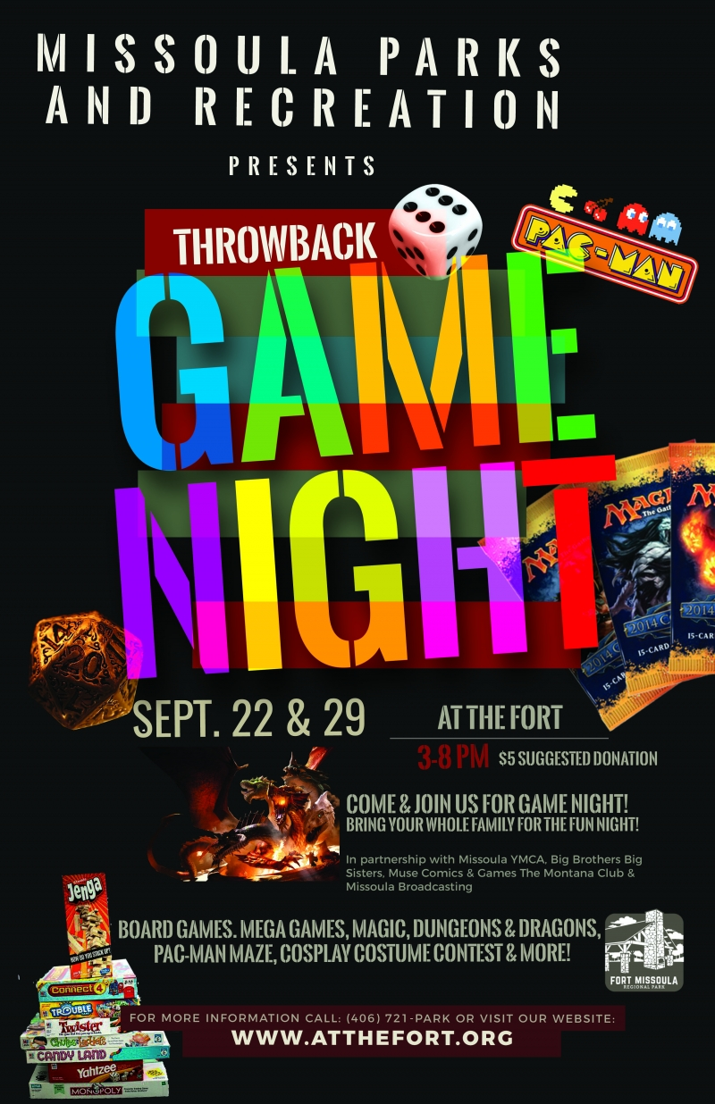 Throwback Game Night at the Fort 09/22/2017 Missoula ...