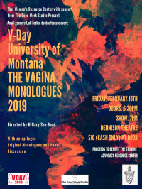 V-Day The Vagina Monologues 2019