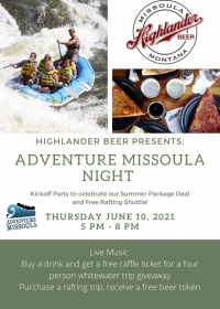 Highlander Beer Adventure Missoula Night