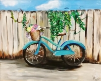 Paint and Sip:  Amanda's Bike