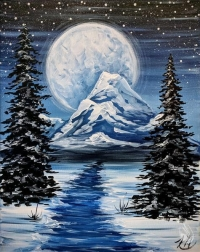 Paint and Sip:  Arctic Mountains
