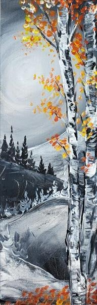 Paint and Sip:  Aspens in the Mountains