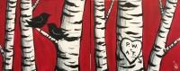 Couples Painting: Birch Love Tree