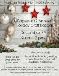 Missoula Eagles Holiday Craft Bazaar