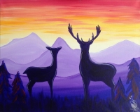 Paint and Sip:  Deer at Sunrise