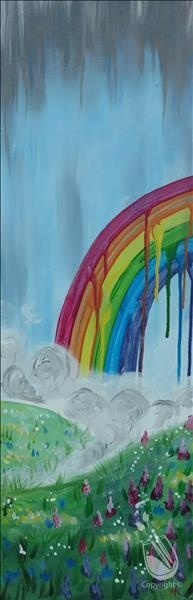 Paint and Sip: Drippy Rainbow