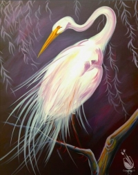 Paint and Sip:  Egret
