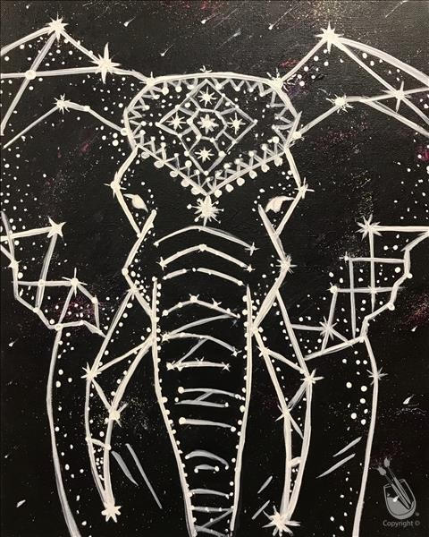 Paint and Sip- Elephant Constellation