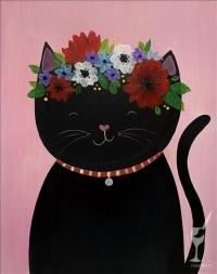 Kid's Painting: Flower Cat