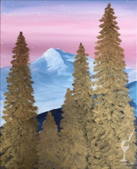 Paint and Sip:  Golden Pines