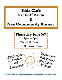 Kids Club Kickoff & Free Dinner!
