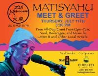 Matisyahu Meet & Greet at Zen Medicine