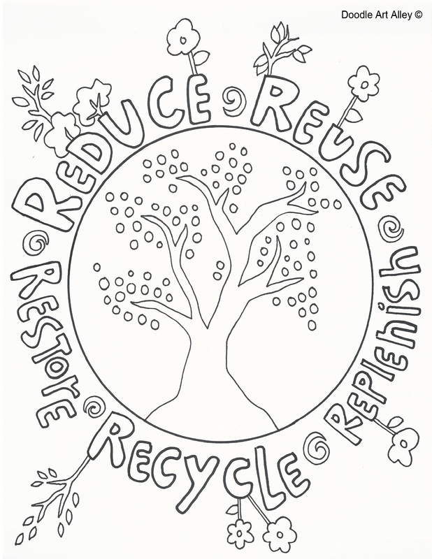 Rummage sale reduce reuse recycle kids clothes toys 05 14 for Recycling coloring pages