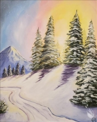 Paint and Sip: Snowy Sunrise