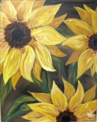Paint and Sip: Sunflowers on Brown