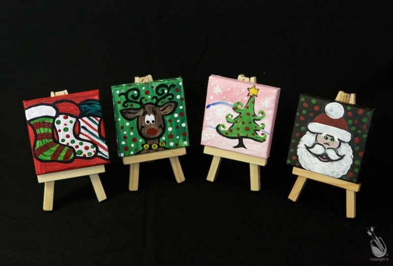 Paint Mini Christmas Ornaments 11 12 14 2017 Missoula Montana