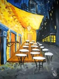 Painting:  Van Gogh's Cafe