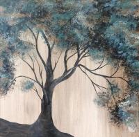 Vintage Teal Tree
