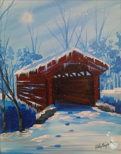 Paint and Sip-Winter Bridge