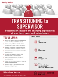 Transitioning to Supervisor