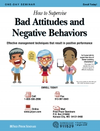 How to Supervise Bad Attitudes and Negative Behaviors