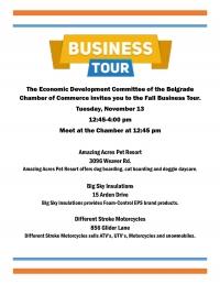 Fall 2018 Economic Development Business Tours