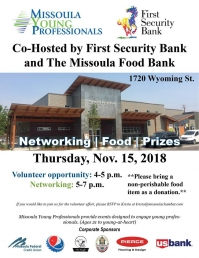 Missoula Young Professionals-First Security Bank & The Missoula Food Bank