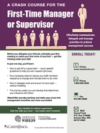 A Crash Course for the First-Time Manager or Supervisor