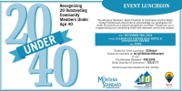 20 Under 40 - Montana Standard & Butte Young Professionals Award Luncheon