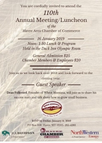 Havre Chamber of Commerce 110th Annual Meeting