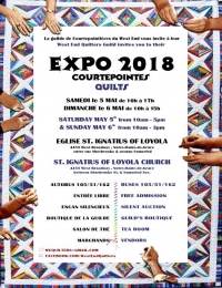 West End Quilters - Expo 2018 Courtepointes Quilts