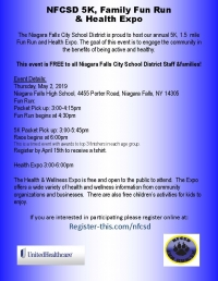 Niagara Falls City School District Wellness Expo & 5K
