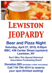 Lewiston Jeopardy - Beer & Pizza Night