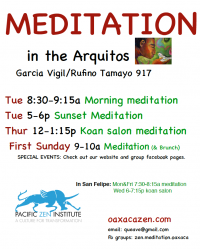 Morning Meditation in the Arquitos
