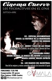 Cinema Cuervo, Los Psicoactivos en el Cine