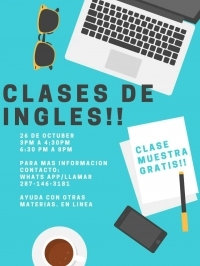 ONLINE: Free English class / Clase en inglés, gratis