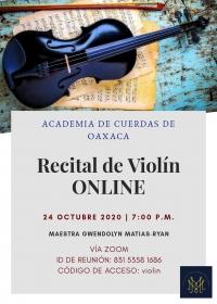 ONLINE: Violin Recital/ Recital de violín