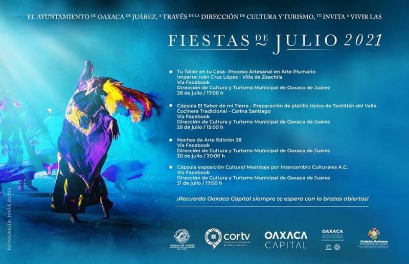 Fiestas de Julio: Art, Cooking, Exhibitions