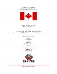 Annual Canadian Breakfast/Desayuno Anual Canadiense