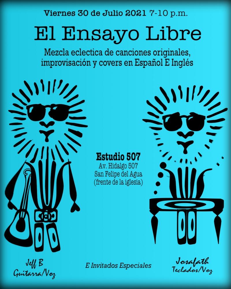 Live Music-Ensayo Libre con Jeff B y Josafath